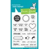 Push Here - Lawn Fawn Clear Stamps