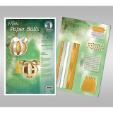 Mini Paper Balls - Golden Ornaments / 12 Stück