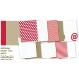 Snap Binder - red 6x8 inch