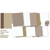 Snap Binder - brown 6x8 inch