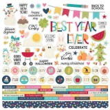 Best Year Ever - Combo Sticker 30,5x30,5 cm