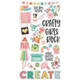 Hey Crafty Girl - Chipboard Sticker