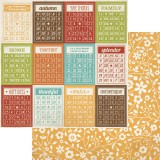 Harvest Lane - Bingo Cards / Yellow Floral 30,5x30,5x30,5 cm