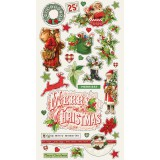Vintage Christmas - Chipboard Stickers