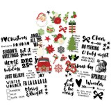Very Merry - Clear Stickers