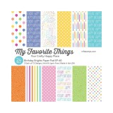 Patterned Paper Pad - Birthday Brights 15,2x15,2 c