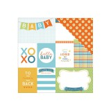 Hello Baby - Blue Tags 30,5x30,5 cm