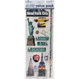 New York - Cardstock Sticker