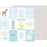 Lullaby - Baby Boy Quotes 30,5x30,5 cm