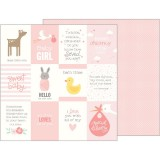 Lullaby - Baby Girl Quotes 30,5x30,5 cm
