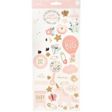Night Night Baby Girl - Icon Accents Cardstock Sti