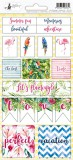 Sticker sheet Let's flamingle 02, 10,5 x 23cm