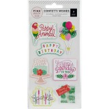 Confetti Wishes - Embossed Puffy Sticker