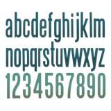Sizzix - Thinlits Alphanumeric Classic Lower