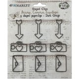 Paperclips Shapes - Dark Greige