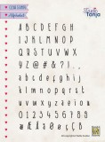Nellies Choice Clear stempel - Alphabet Javi