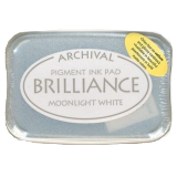 Archival Ink Brilliance Moonlight White