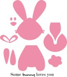 Some bunny loves you - Stanzschablone und Stempel