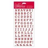 Create Christmas - red Thickers Sticker