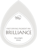 Archival Ink Brilliance Dew Drop Moonlight White