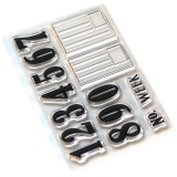 Number & Label Clear Stamps