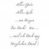 Clear Stamp Set - Alles Gute