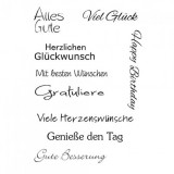 Clear Stamp Set - Geburtstag 3