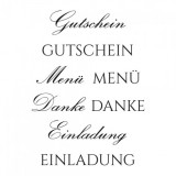 Clear Stamp Set - Gutschein 2