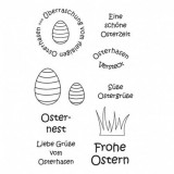 Ostern 4 - Clear Stamp Set von efco