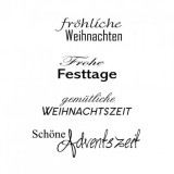 Clear Stamp Set - Weihnachten 11