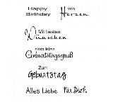 Clear Stamp Set - Geburtstag