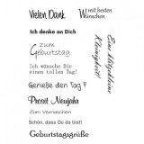 Clear Stamp Set - Geburtstag 6
