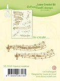 Leane Clear Stamp - Musical Notation
