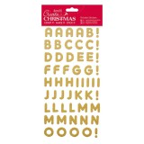Create Christmas - gold Thickers Sticker