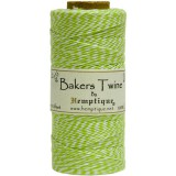 Bakers Twine Spool - Lime / White