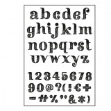 Paperfuel Clear Stamps - Alphabet get them stripes