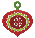 Peppermint Twist - Ornament embossed tag